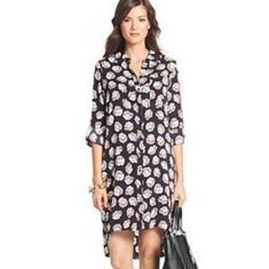 New DVF spotted floral silk dress